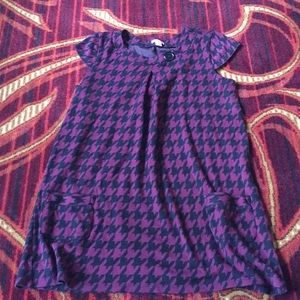 Fun marron and black houndstooth dress/top
